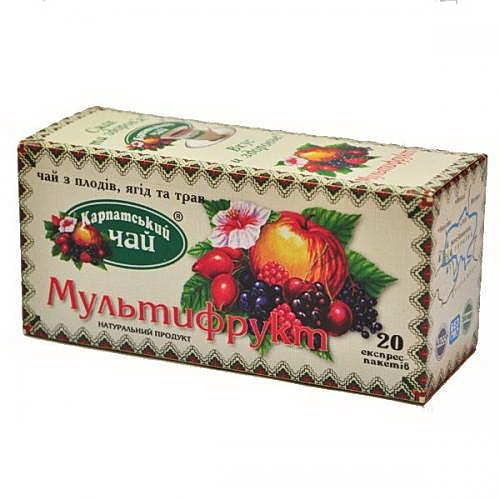 Чай Мультифрукт 20пак. по 2гр. Карпатский - фото 1