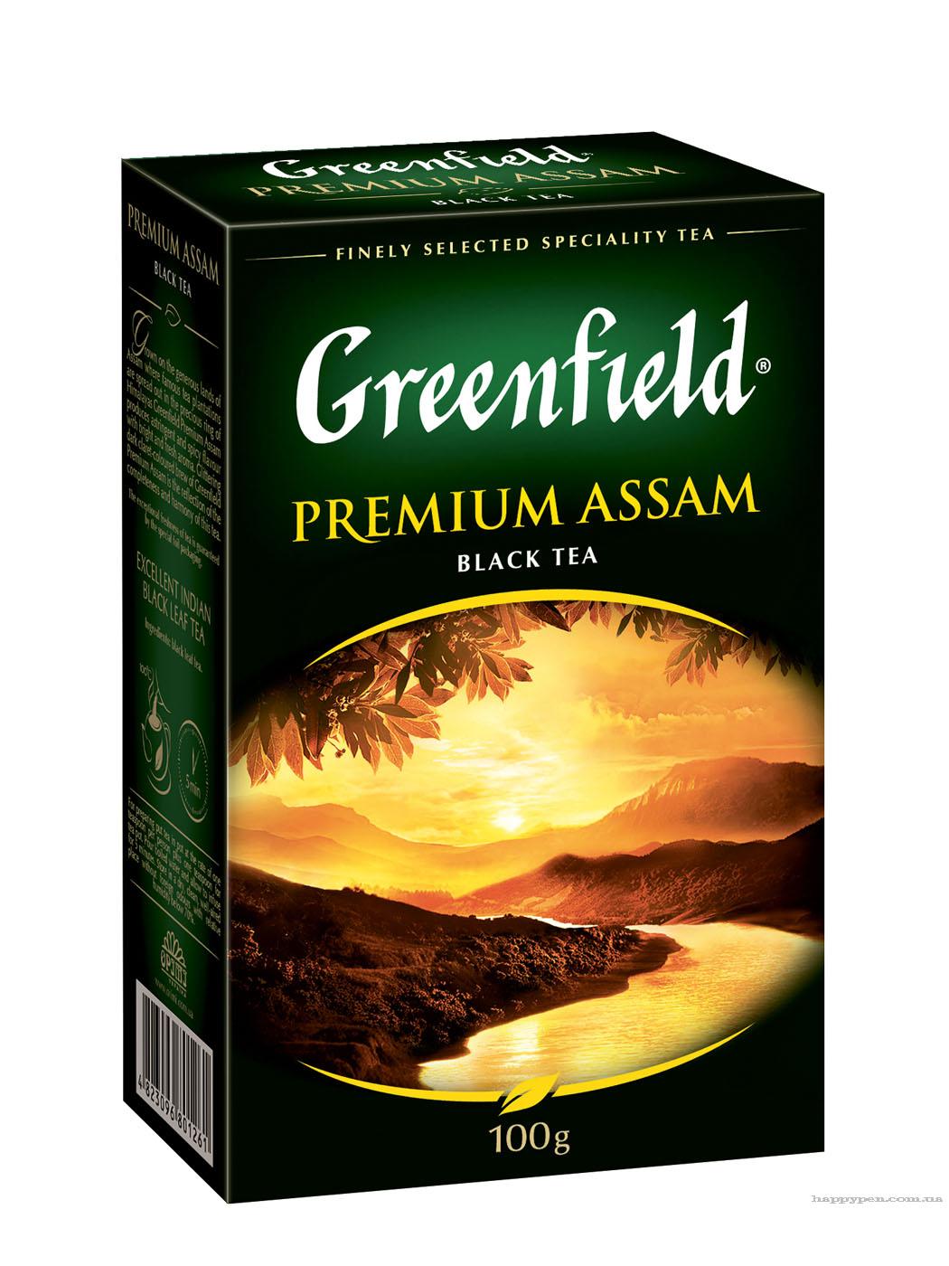 Чай черный классический Premium Assam 100гр. Greenfield - фото 1