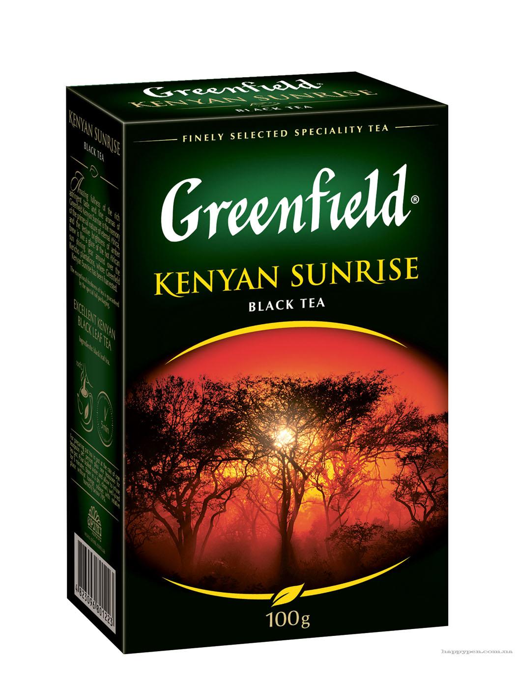 Чай черный классический Kenyan Sunrise 100гр. Greenfield - фото 1