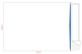 Конверт C4 229*324 отр. лента, фон, 90гр./м2., 500шт./уп. загрузка по короткой стороне