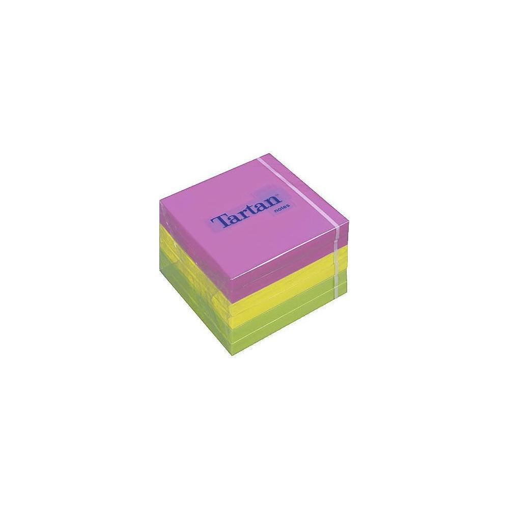 Блок post-it 76,2*76,2мм.*100 листов Tartan неон 6шт./уп. 3M - фото 1