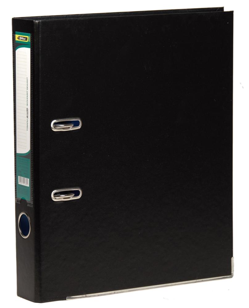 Регистратор 5см. А4 (PVC) односторонний, черн. 4Office - фото 1