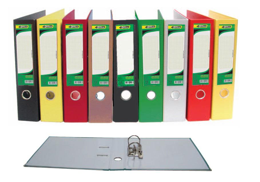Регистратор 5см. А4 (PVC) односторонний, черн. 4Office - фото 2