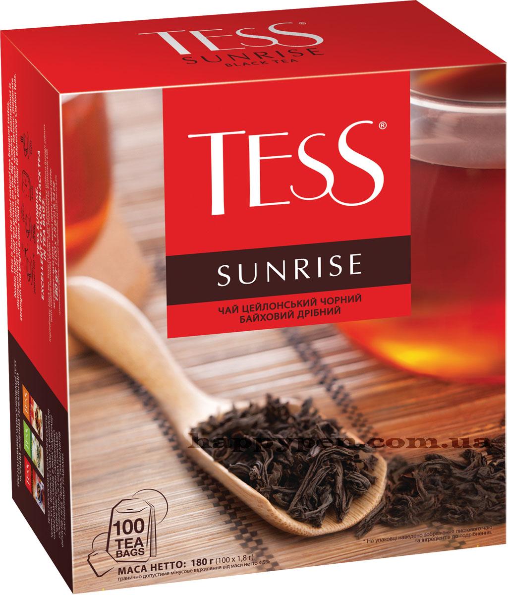 Чай черный классический Sunrise 100пак. по 1,8гр. Tess - фото 1