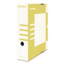 Коробка архивная А4 80мм., желт.