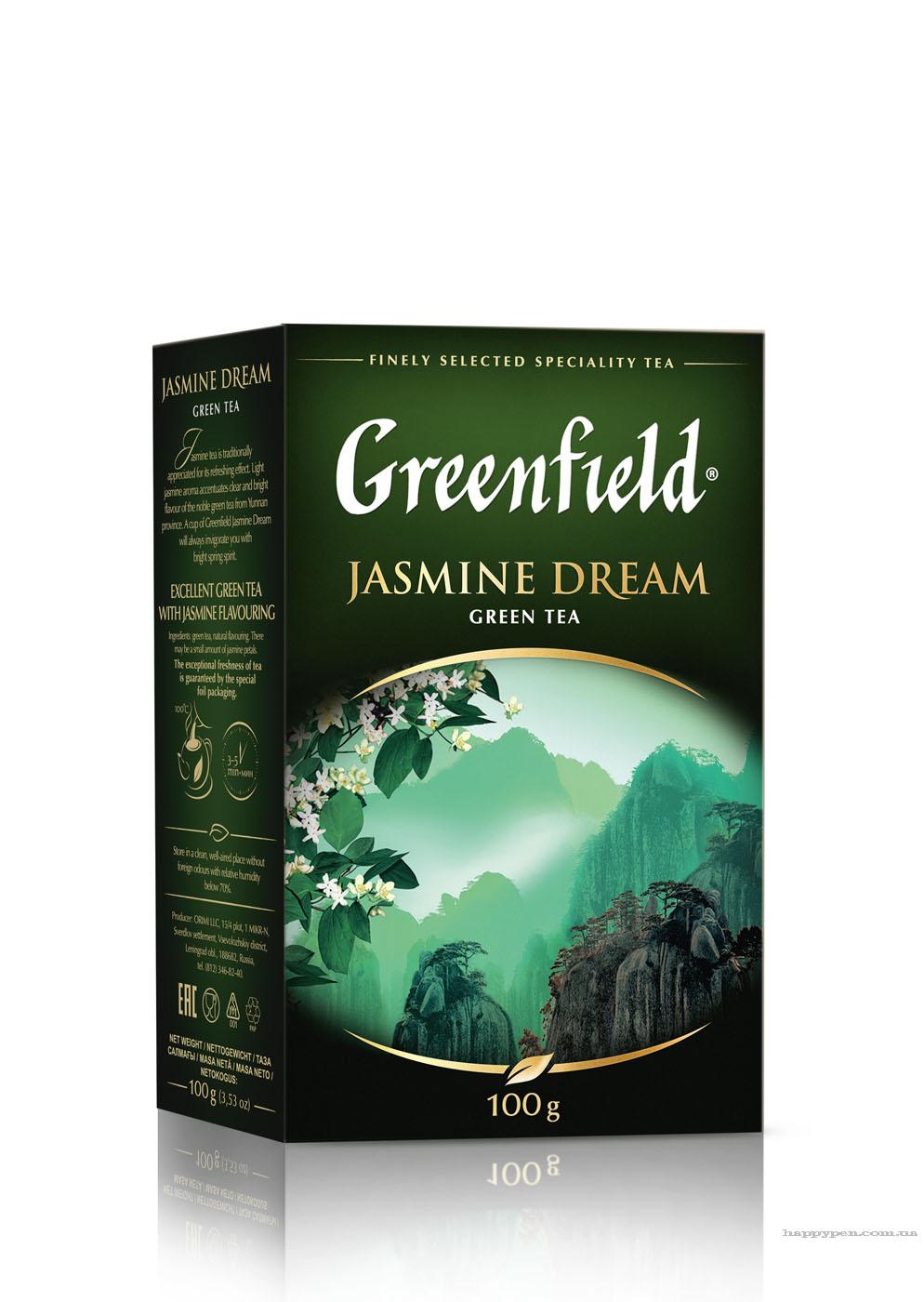 Чай зеленый ароматизированный Jasmine Dream 100гр. Greenfield - фото 1