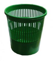 Корзина для бумаг 8л. пластиковая, зелен.