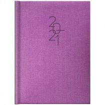 Ежедневник датированный Стандарт 2021 Tweed, фиолет.