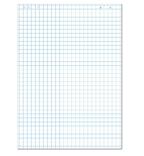 Блокнот для флипчартов в клетку 64*90см., 20л., 5шт./уп. ABC - фото 1
