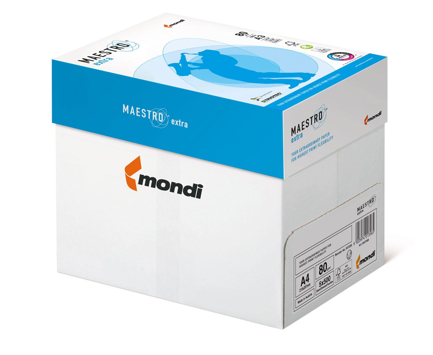 Бумага А4 80гр./м2. 500 листов Maestro Extra Mondi - фото 2