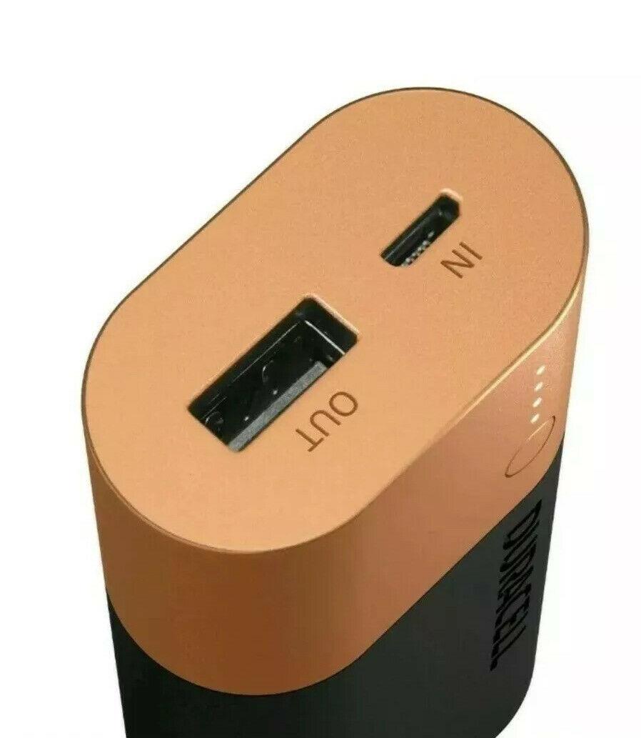 Аккумулятор-зарядка Power bank, емкость 6700мАч, выход 2,4А - 1 USB, вход - microUSB Duracell - фото 3