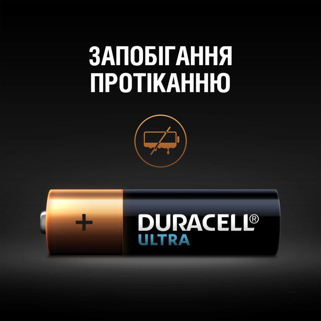 Батарейка LR6 (АА) ULTRA, 2шт./уп. Duracell - фото 4
