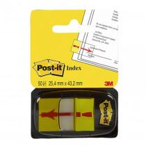 "Закладки Post-it INDEX 25,4*43,2мм., 50 листов, ""!"", желт."