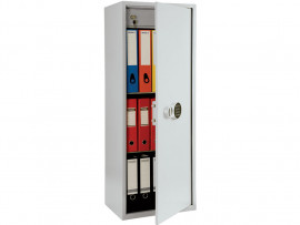Шкаф бухгалтерский 2полки+отделение с замком, (1252*460*340см.) метал., электронный замок