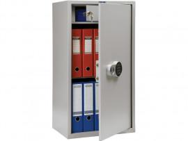 Шкаф бухгалтерский 1полка+отделение с замком, (870*460*340см.) метал., электронный замок