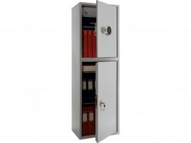 Шкаф бухгалтерский 3полки+отделение с замком, 2 двери, (1490*460*340см.) метал., электронный замок