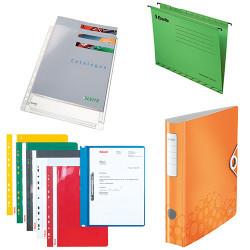 Папки, регистраторы, скоросшиватели, файлы