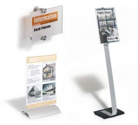 Таблички настенные и настольные, наклейки информационные