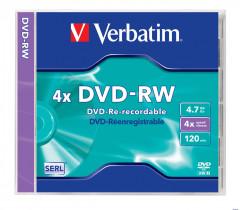 Диск DVD-RW 4,7Gb/120min 4x Slim