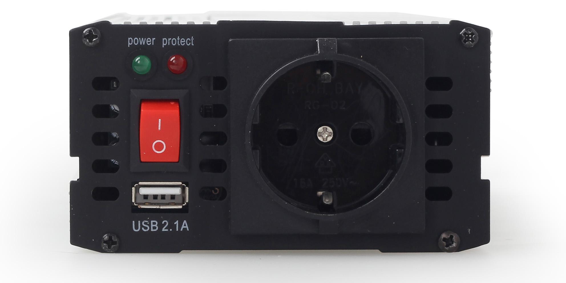 Автомобильный инвертор 12V/220V 500 ВТ ENERGENIE (EG-PWC-043) Energenie - фото 4