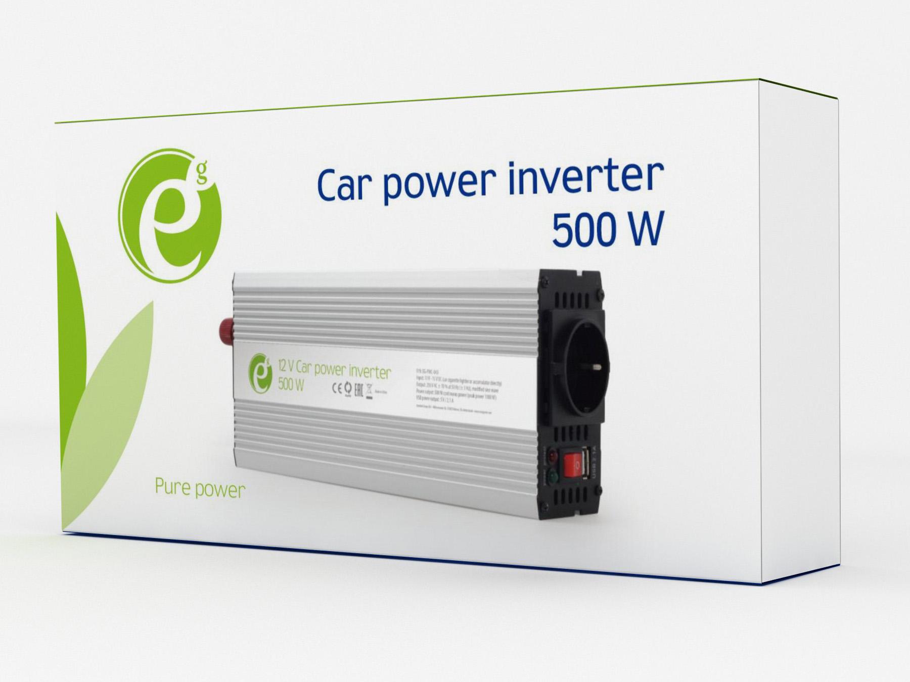 Автомобильный инвертор 12V/220V 500 ВТ ENERGENIE (EG-PWC-043) Energenie - фото 7