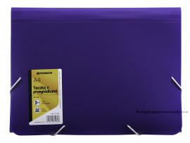 Папка картотека на 14 отделений А4 PP-104 на резинках, с разделителями, фиолет.