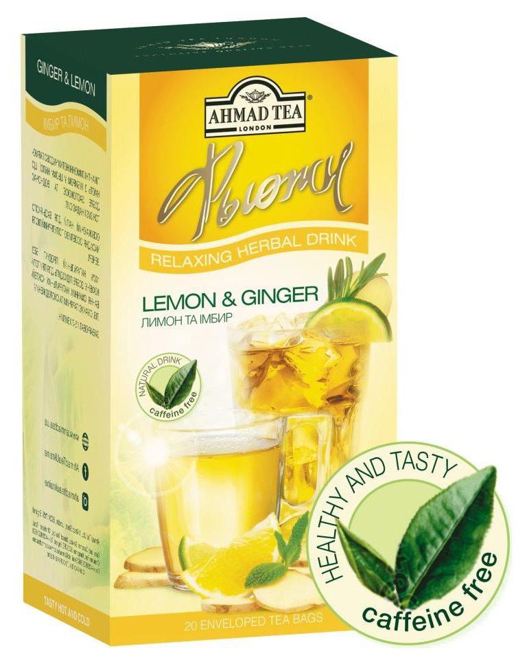 Чай травяной Лимон и имбирь 20пак. по 2гр. AHMAD - фото 2
