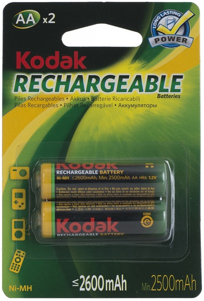Аккумулятор АА (HR6), 2600 мАч., 2шт./уп. Kodak - фото 2