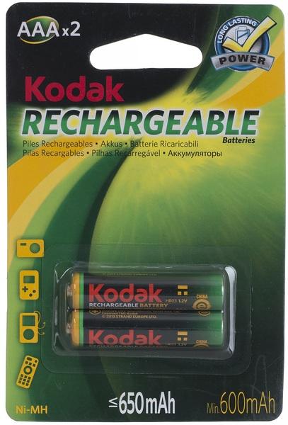 Аккумулятор ААA (HR3), 650 мАч., 2шт./уп. Kodak - фото 1