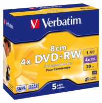 Диск miniDVD+RW 1,4Gb/30min 4x, HardCoat, 5шт/уп.