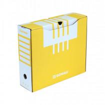 Коробка архивная А4 100мм., желт.