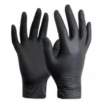 Перчатки нитриловые неопудренные Nitnle gloves , размер S, 100шт./уп., черн.