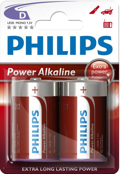 Батарейка LR20 (MN1300) PowerLife, 2шт/уп Philips - фото 1