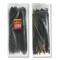 Хомут пластиковый (стяжка) 3,6x300 мм, (100 шт/упак), TC-3631, черн.