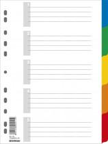 Разделитель страниц цифровой 1-5 пласт. цветной с листом описанием