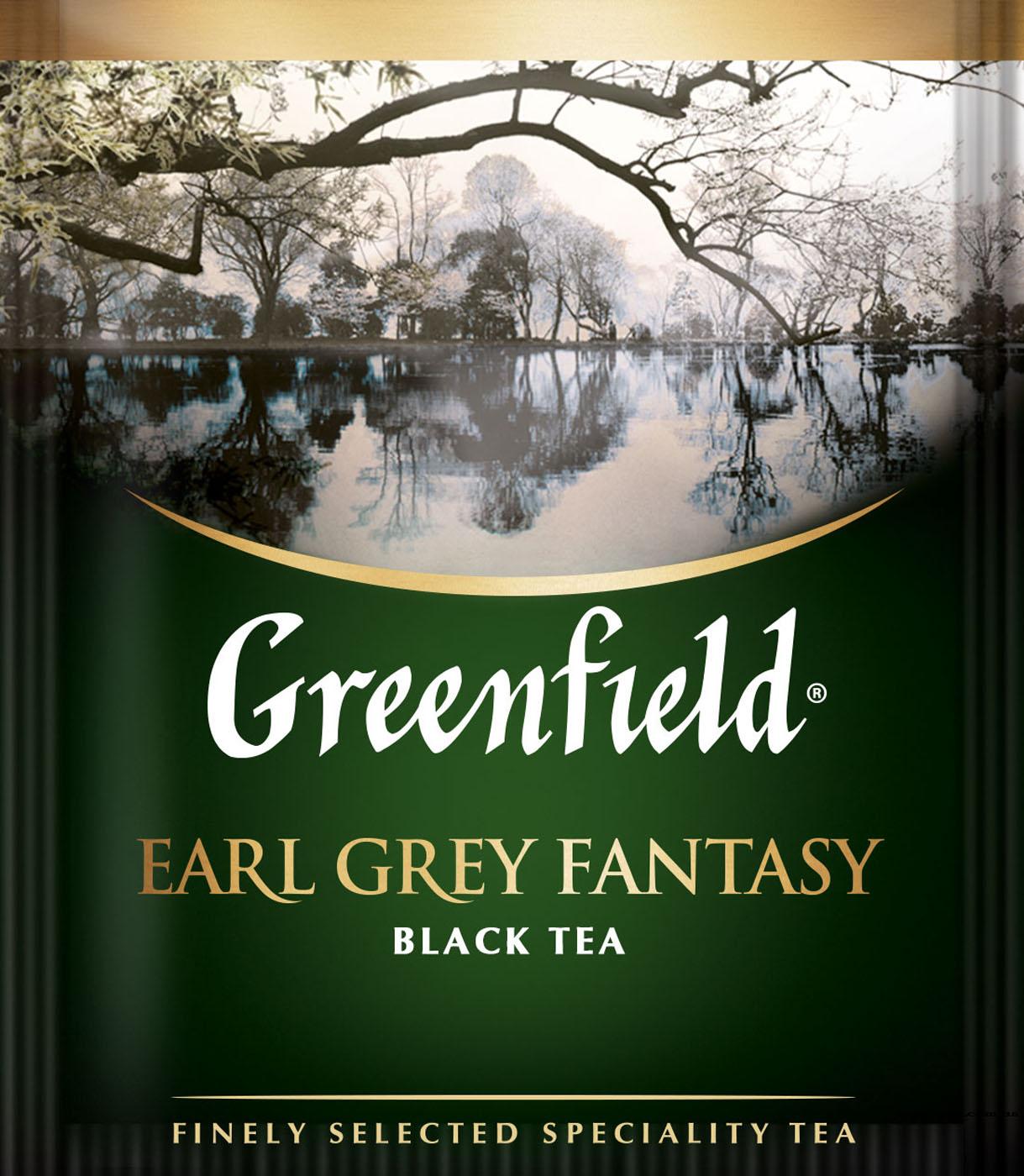Чай черный ароматизированный Earl Grey Fantasy 100пак. по 2гр., термосаше, в пакете Greenfield - фото 1