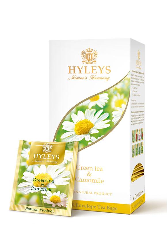 Чай Гармонія природи, зелёный с ромашкой, 25пак. по 1,5гр., пакетик в фольге Hyleys - фото 1