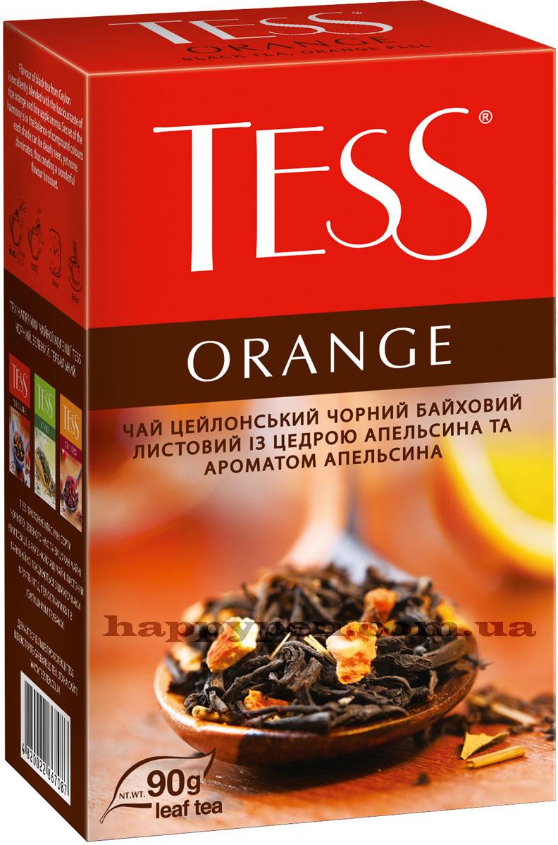 Чай черный ароматизированный Orange 90гр. Tess - фото 1