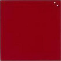 Доска стеклянная магнитная 100*100см., красн.