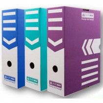 Коробка архивная А4 100мм., фиолет.