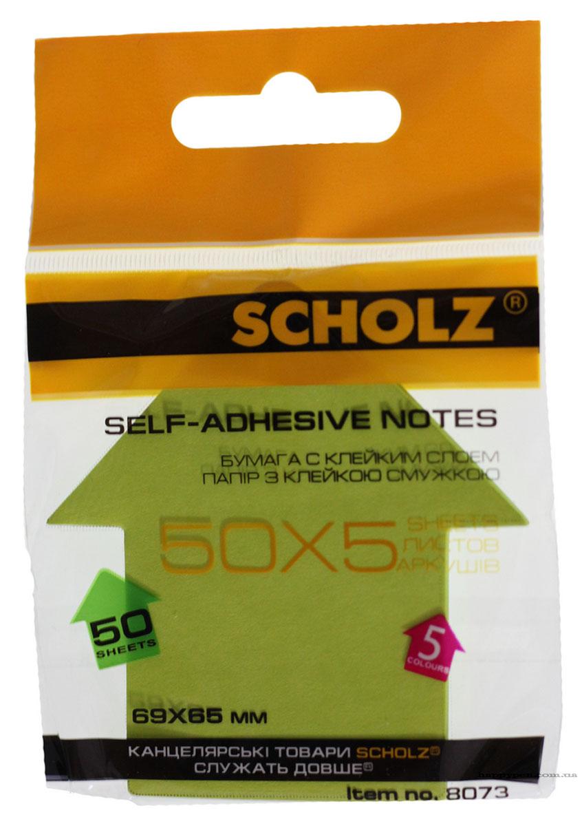 Блок бумаги с клейким слоем Стрелка, 69*65мм.*50 листов, неон., ассорт. Scholz - фото 5