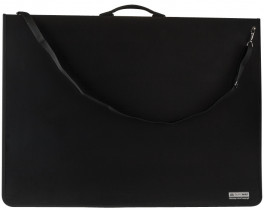Портфель-папка А2, на 6 колец., пластик, черн.