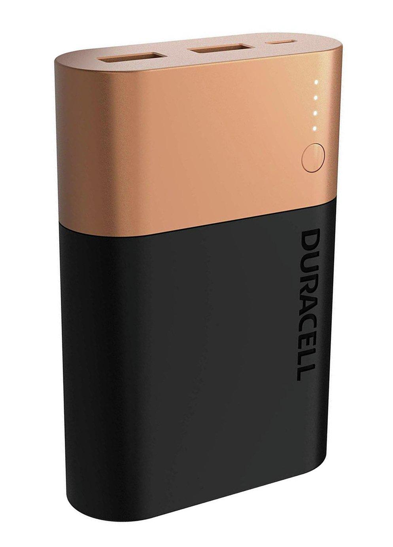 Аккумулятор-зарядка Power bank, емкость 10050мАч, выход 2,4А - 2 USB, вход - microUSB Duracell - фото 2