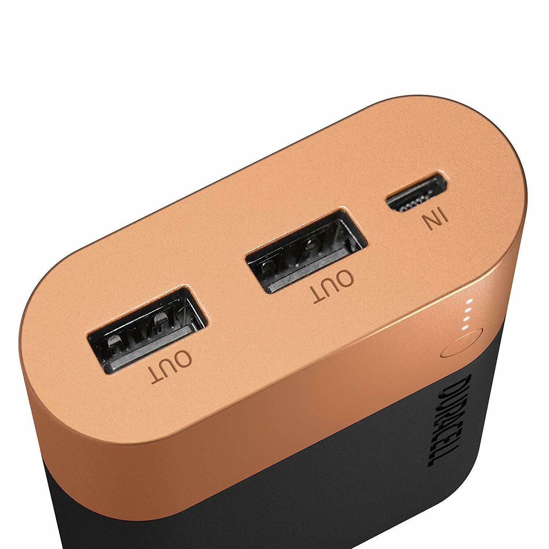 Аккумулятор-зарядка Power bank, емкость 10050мАч, выход 2,4А - 2 USB, вход - microUSB Duracell - фото 3