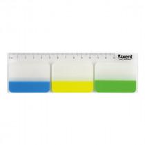 Закладки-разделители страниц, 3 неоновых цвета,  30 шт., пластиковые