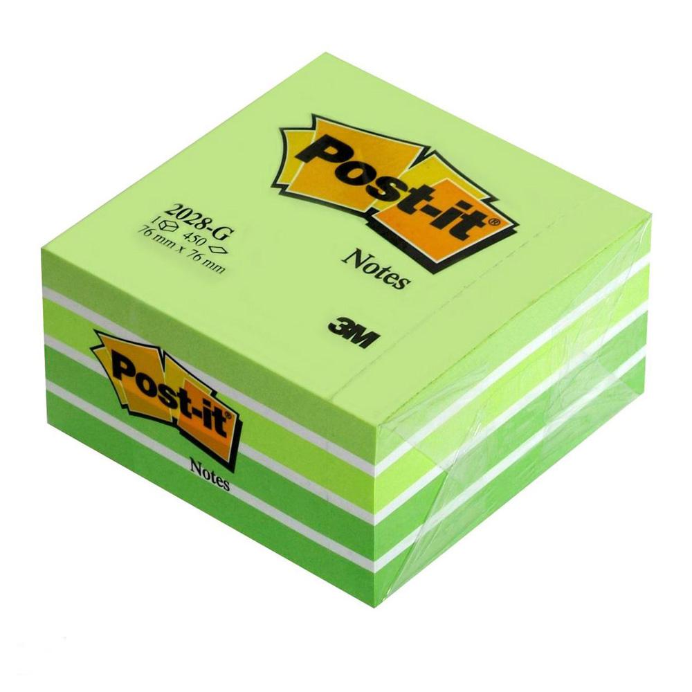 Блок post-it 76*76мм.*450 листов пастельный зелен. 3M - фото 1