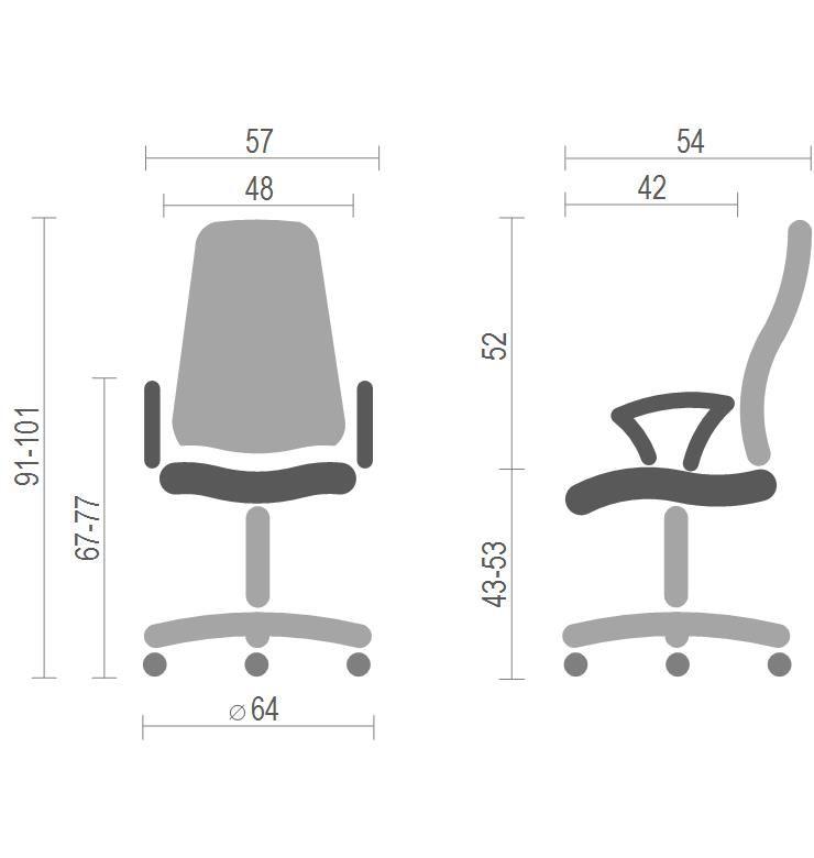 Кресло Тета CH PR , серый АКЛАС - фото 4
