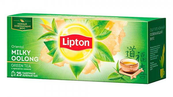 Чай зеленый байховый Oriental Milky Oolong 25пак по 2г Lipton - фото 2