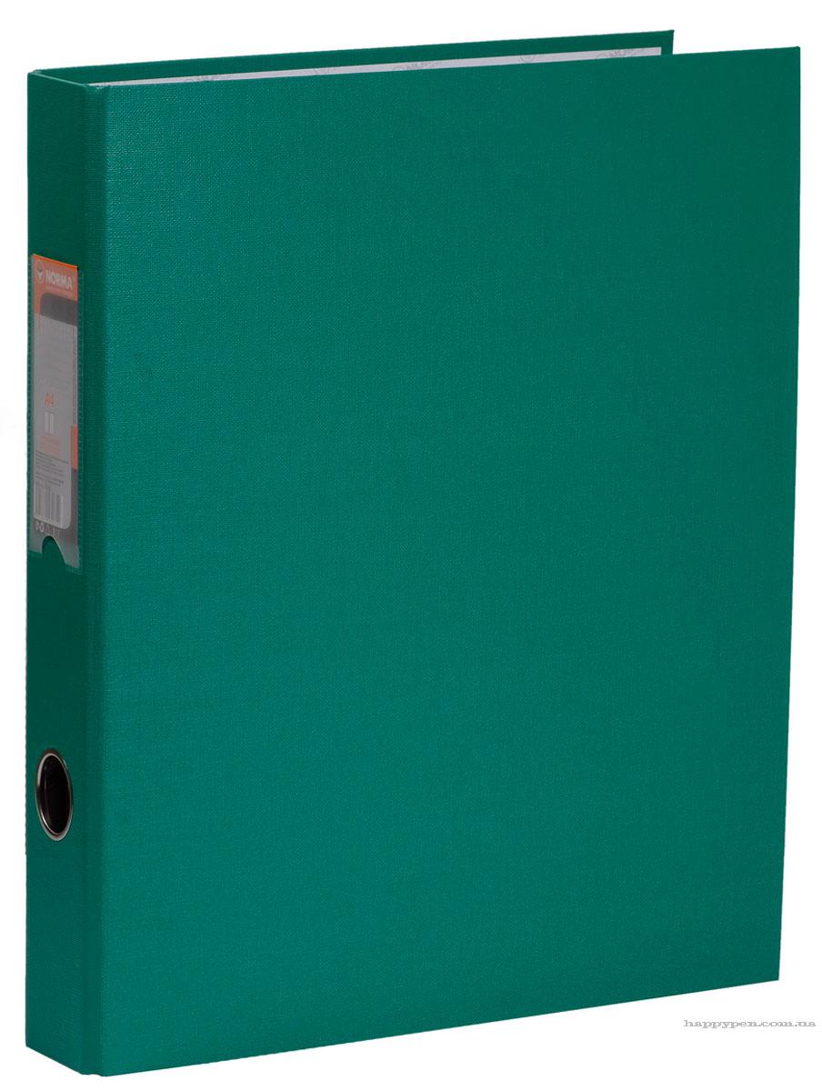 Папка А4 50мм. 4кольца (PVC), зелен. NORMA - фото 2