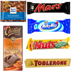 Шоколад и батончики